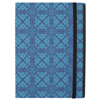 Vintage Geometric Floral Blue on Blue