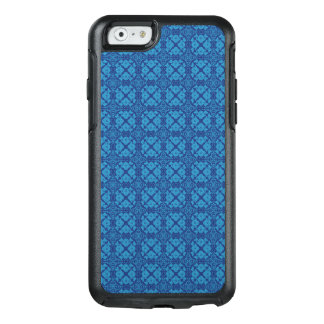 Vintage Geometric Floral Blue on Blue OtterBox iPhone 6/6s Case