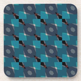 Vintage Geometric pattern Beverage Coasters