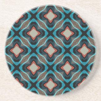 Vintage geometric pattern coaster