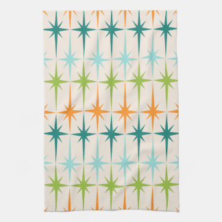 Vintage Geometric Starbursts Kitchen Towel