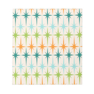 Vintage Geometric Starbursts Notepad