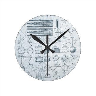 Vintage Geometry Wall Clock