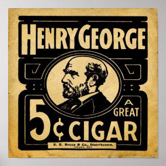 Vintage George Henry 5 Cent Cigar Print