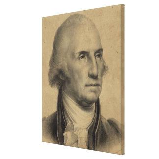 Vintage George Washington Portrait Illustration Canvas Print