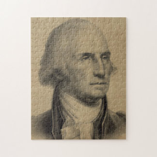Vintage George Washington Portrait Illustration Jigsaw Puzzle