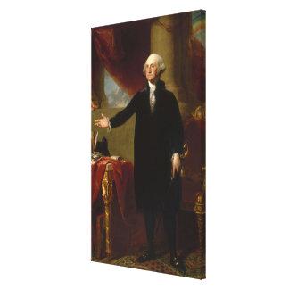 Vintage George Washington Portrait Painting 2 Canvas Print