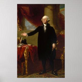 Vintage George Washington Portrait Painting 2 Poster