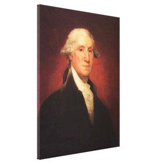 Vintage George Washington Portrait Painting Canvas Print
