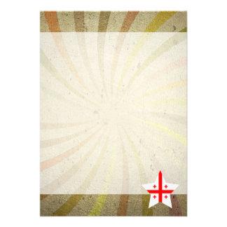 Vintage Georgian Flag Swirl 13 Cm X 18 Cm Invitation Card