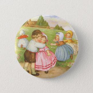 Vintage Georgie Porgie Mother Goose Nursery Rhyme 6 Cm Round Badge