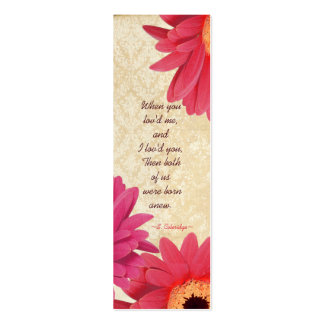 Vintage Gerber Coral Damask Fuchsia Wedding Tags Business Card Template