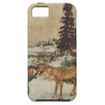 Vintage Gerda and the Reindeer by Edmund Dulac iPhone 5 Cases