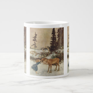 Vintage Gerda and the Reindeer by Edmund Dulac Jumbo Mug