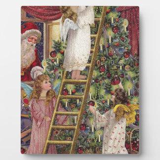 Vintage German Angels Christmas Victorian Art Plaque