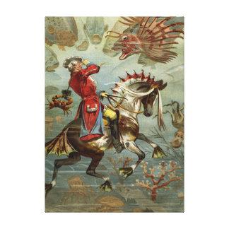 Vintage German Baron Munchausen Adventures Canvas Print