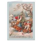 Vintage German Children Christmas Card