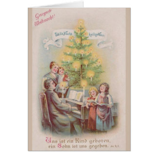 Vintage German Christmas Greeting Card