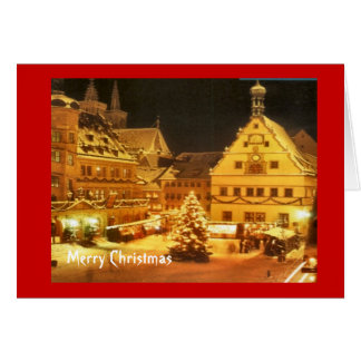 Vintage German Christmas market Card