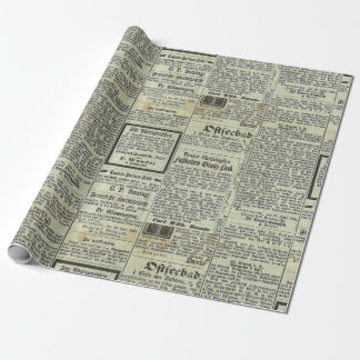 Vintage German newspaper gift paper
