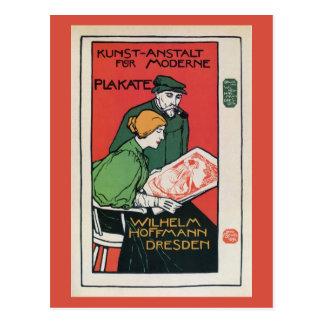 Vintage German poster printers advertisement Postcard