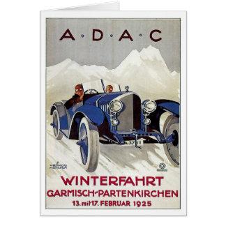 Vintage German Road Race Ad Greeting Card