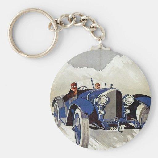Vintage German Road Race Ad Key Chains