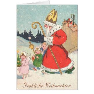 Vintage German St. Nickolas Christmas Card