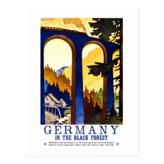 Vintage Germany Black Forest Art Postcard