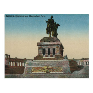 Vintage Germany, Koblenz, Deutches Eck, Monument Postcard