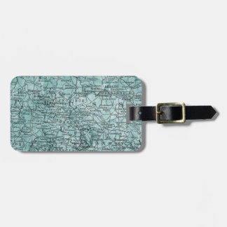 Vintage Germany Prussia Region Map Travel Luggage Tag