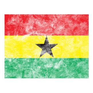 Vintage Ghana Flag Postcard