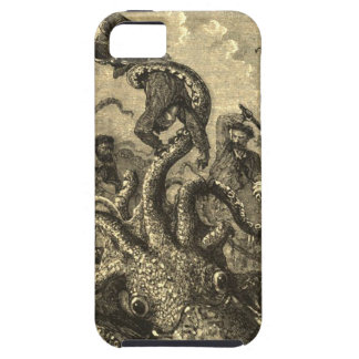 Vintage Giant Squid Sea Monster Case Case For The iPhone 5
