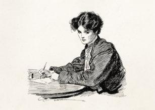 Image result for writing a card vintage illustration