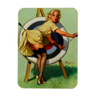 Vintage Gil Elvgren Target Archery Pinup Girl Magnet