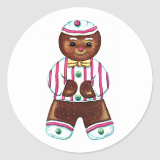 Vintage Gingerbread Man Holiday Sticker