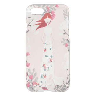 Vintage Girl and Flowers- Watercolor Summer iPhone 8/7 Case