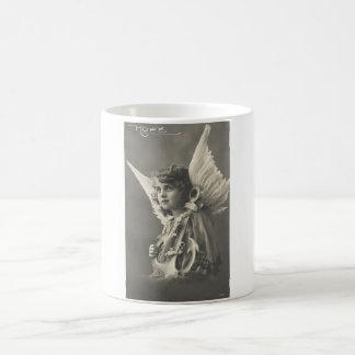 Vintage Girl Angel Symbol of Hope 1900s Anchor Coffee Mug
