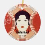 Vintage Girl Bridesmaid Christmas Ornament