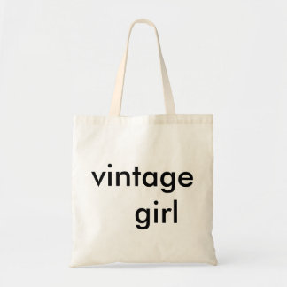 vintage girl cute tote for the supa savvy shopper.