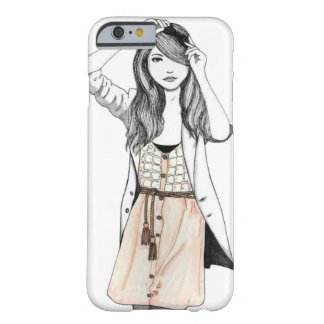VINTAGE GIRL WITH STYLE BARELY THERE iPhone 6 CASE