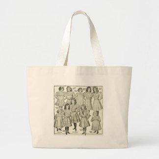 Vintage Girls Dresses, Canadian Catalog 1907 Jumbo Tote Bag