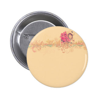 Vintage girly angel girl floral romantic victorian pinback buttons