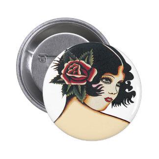 Vintage Girly Girl 6 Cm Round Badge