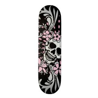 Vintage Girly Skull Skateboard Deck
