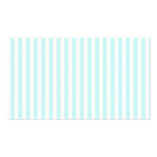 Vintage Girly  Teal Blue White  Stripes Pattern Business Card Templates