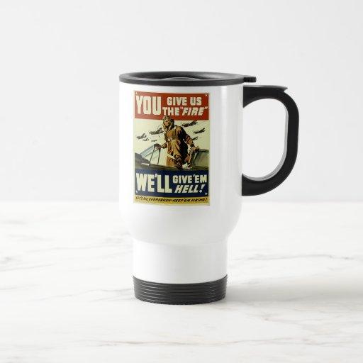 Vintage Give'em Hell Travel Mug