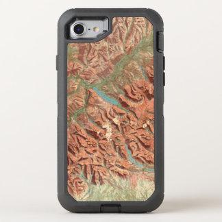 Vintage Glacier National Park Map OtterBox Defender iPhone 8/7 Case