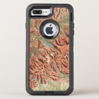 Vintage Glacier National Park Map OtterBox Defender iPhone 8 Plus/7 Plus Case