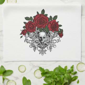 Vintage Glam Skeleton Kitchen Towel